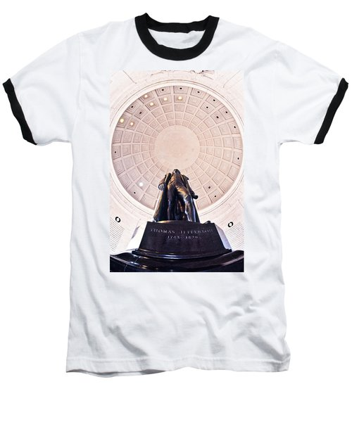 Statue Of Thomas Jefferson Baseball T-Shirt by Panoramic Images