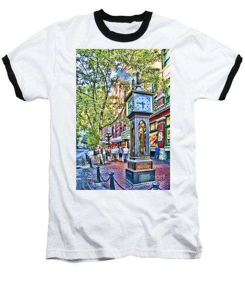 Steam Clock In Vancouver Gastown Baseball T-Shirt