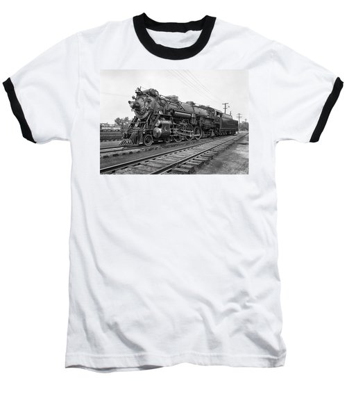 Steam Locomotive Crescent Limited C. 1927 Baseball T-Shirt