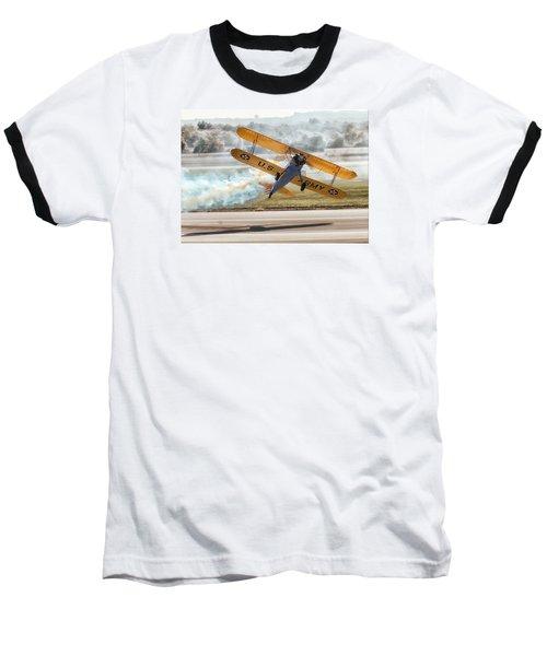 Stearman Model 75 Biplane Baseball T-Shirt