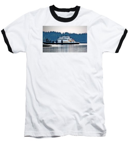 Steilacoom Ferry At Dusk Baseball T-Shirt by Chris Anderson