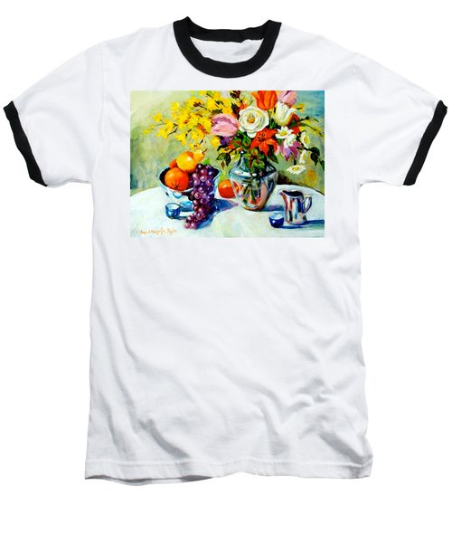 Still Life Creamer Baseball T-Shirt by Alexandra Maria Ethlyn Cheshire