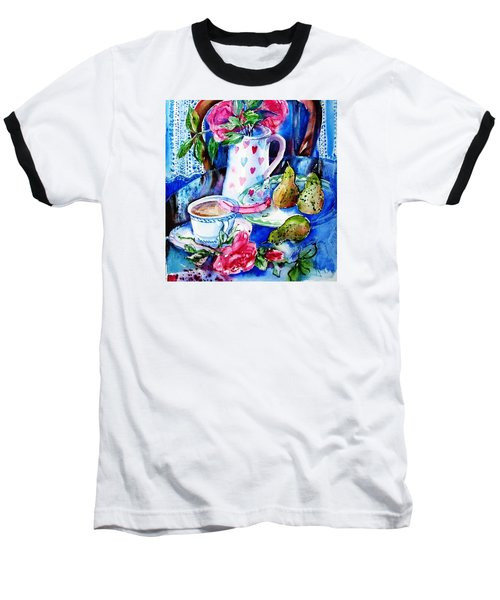 Baseball T-Shirt featuring the painting Still Life With Roses  by Trudi Doyle