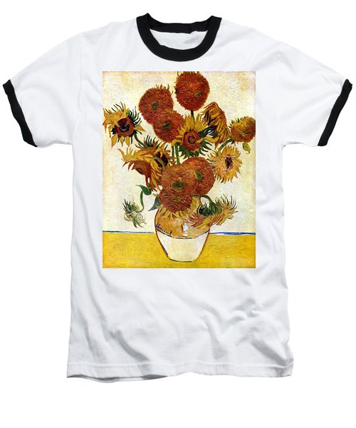 Still Life With Sunflowers Baseball T-Shirt