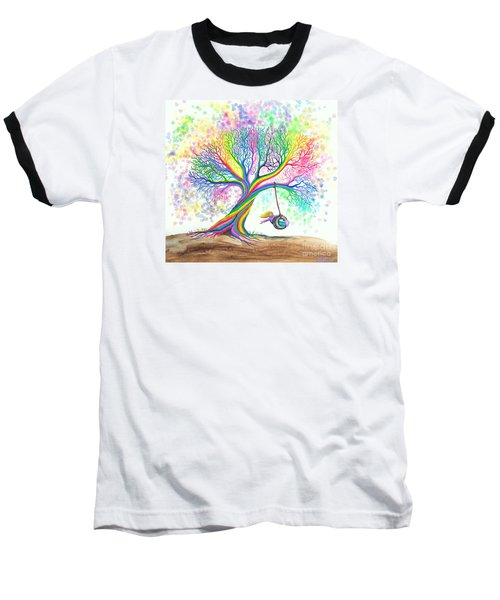Still More Rainbow Tree Dreams Baseball T-Shirt by Nick Gustafson