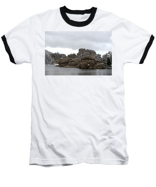Sylvan Lake In October Baseball T-Shirt by Clarice  Lakota