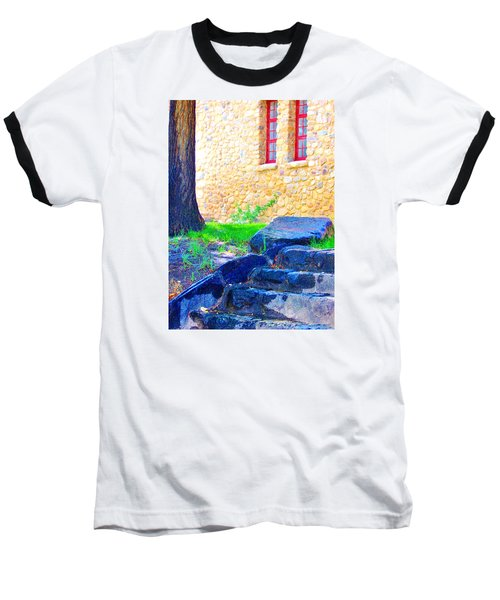 Baseball T-Shirt featuring the photograph Stone Steps by Marilyn Diaz