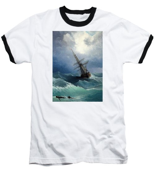 Baseball T-Shirt featuring the painting Storm by Mikhail Savchenko