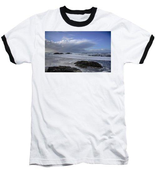 Storm Rolling In Wickaninnish Beach Baseball T-Shirt by Roxy Hurtubise