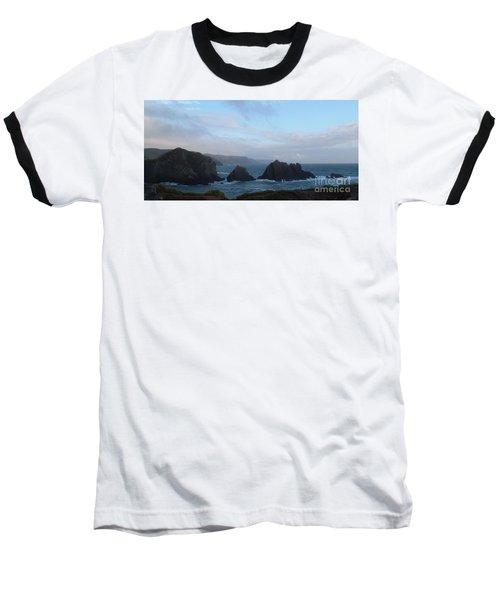 Hartland Quay Storm Baseball T-Shirt by Richard Brookes