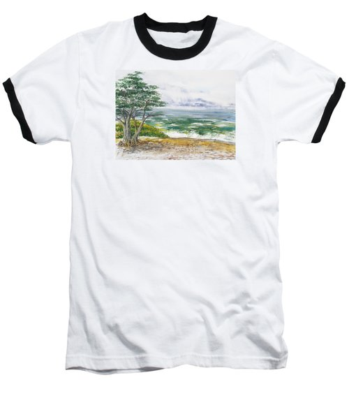 Stormy Morning At Carmel By The Sea California Baseball T-Shirt