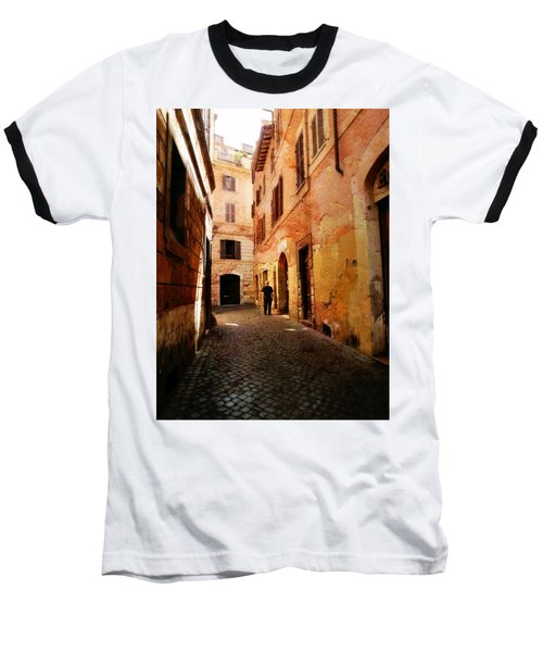 Baseball T-Shirt featuring the photograph Strade Di Ciottoli by Micki Findlay