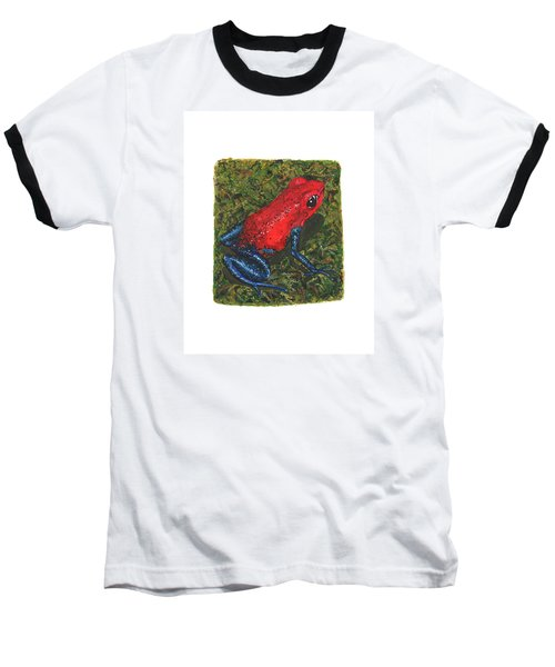 Strawberry Poison Dart Frog Baseball T-Shirt