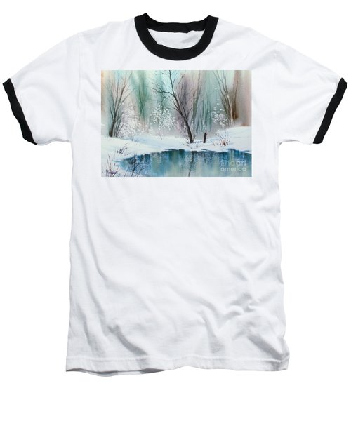 Stream Cove In Winter Baseball T-Shirt by Teresa Ascone