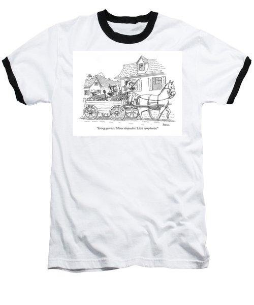 String Quartets! Minor Rhapsodies! Little Baseball T-Shirt