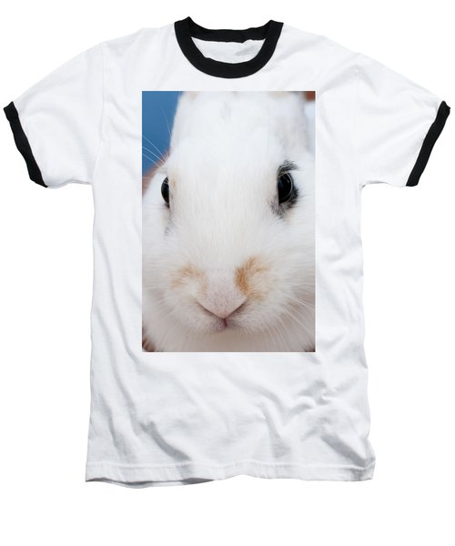 sugar the easter bunny 1 -A curious and cute white rabbit close up Baseball T-Shirt