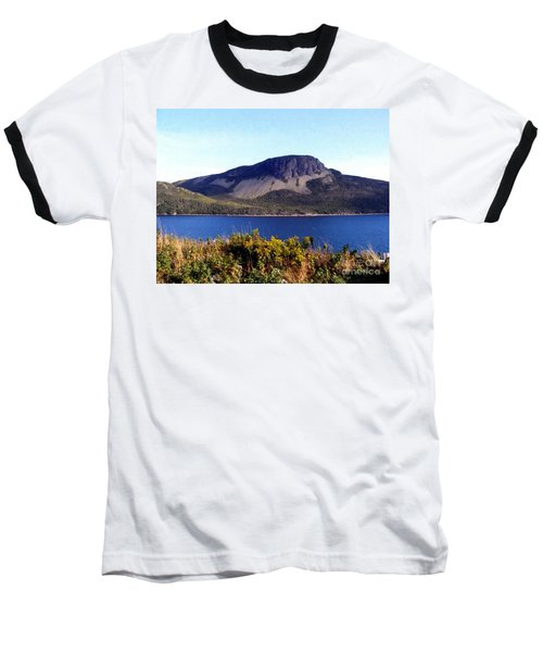 Baseball T-Shirt featuring the painting Sugarloaf Hill In Summer by Barbara Griffin