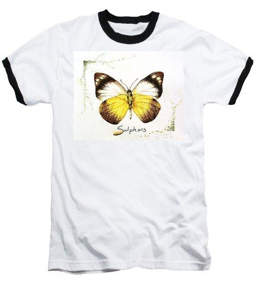 Sulphurs - Butterfly Baseball T-Shirt