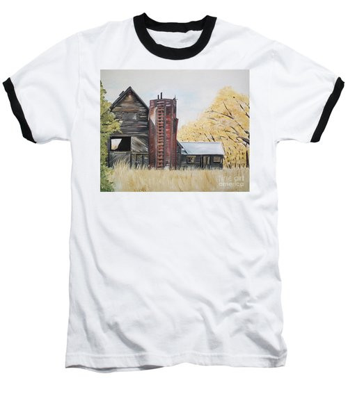 Golden Aged Barn -washington - Red Silo  Baseball T-Shirt