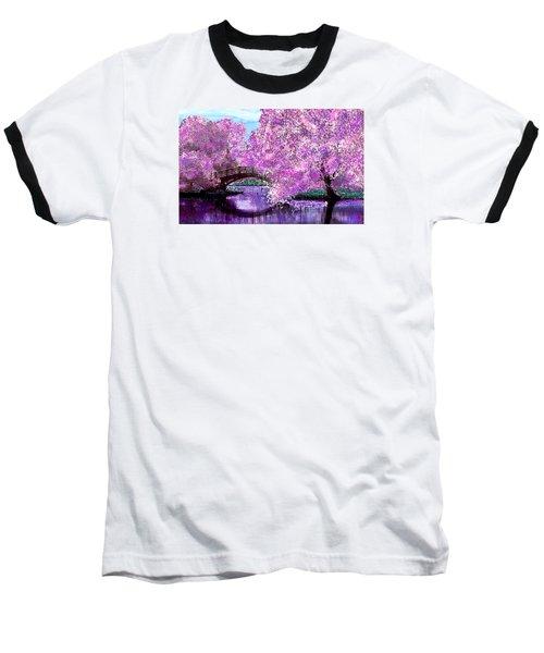 Summer Bridge Baseball T-Shirt by Michele Avanti