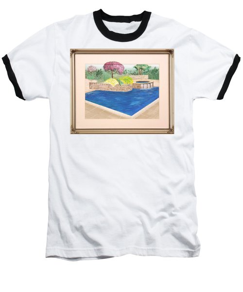 Baseball T-Shirt featuring the painting Summer Days by Ron Davidson