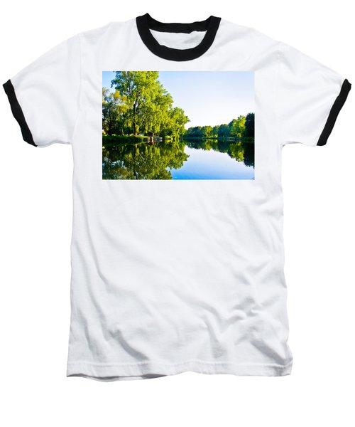 Baseball T-Shirt featuring the photograph Summer Reflections by Sara Frank