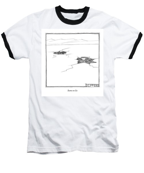 Sumo On Ice Baseball T-Shirt