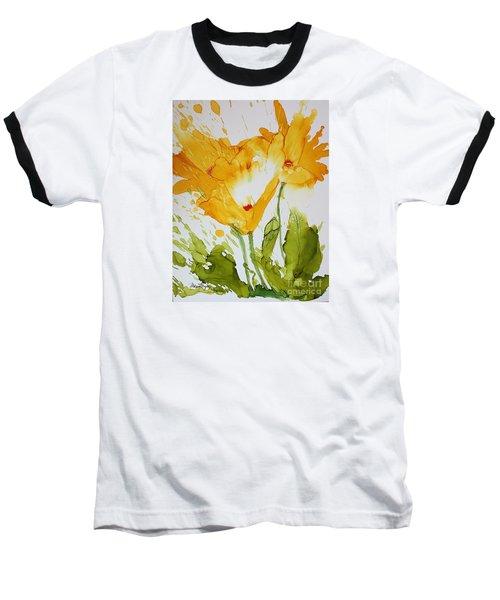 Sun Splashed Poppies Baseball T-Shirt