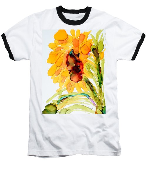 Sunflower Left Face Baseball T-Shirt