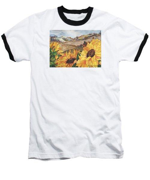 Sunflower Serenity Baseball T-Shirt