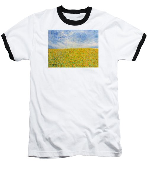 Sunflowers  Field In Texas Baseball T-Shirt
