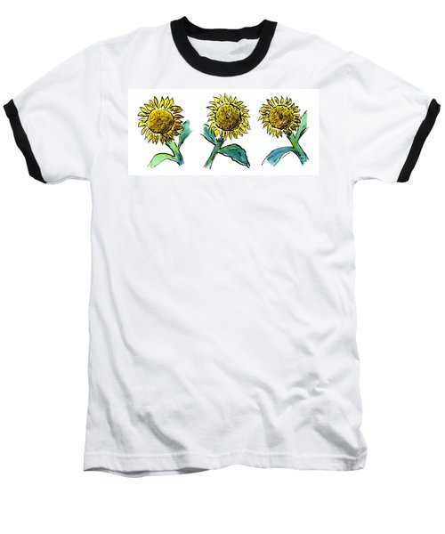 Sunflowers Trio Baseball T-Shirt