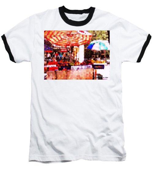 Baseball T-Shirt featuring the photograph Sunkist by Miriam Danar