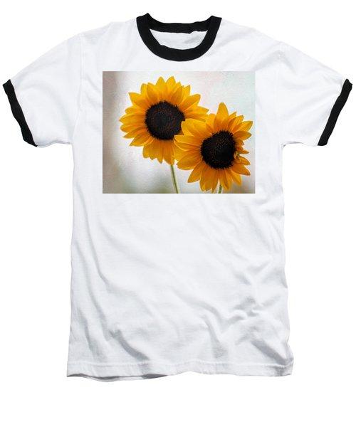 Sunny Flower On A Rainy Day Baseball T-Shirt by Tammy Espino
