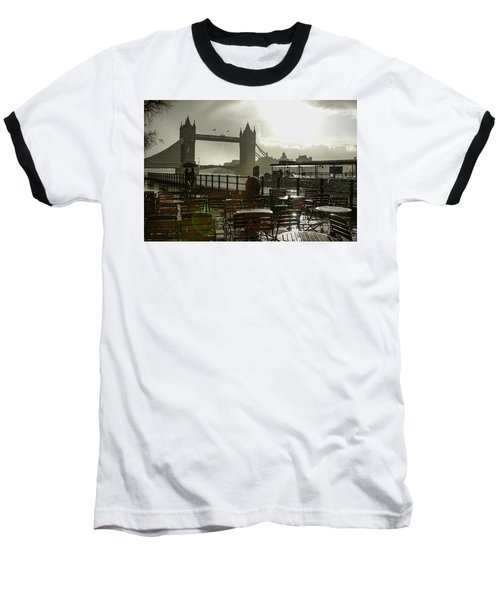 Sunny Rainstorm In London England Baseball T-Shirt