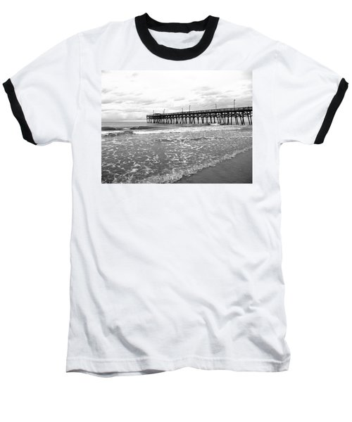 Baseball T-Shirt featuring the photograph Sunrise At Surfside Bw by Barbara McDevitt