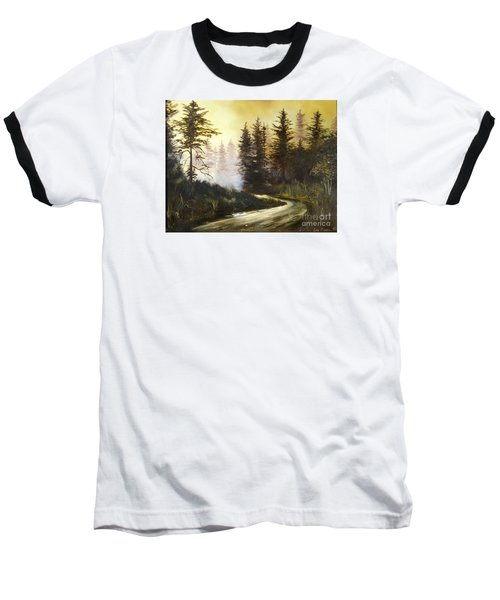 Sunrise In The Forest Baseball T-Shirt by Lee Piper