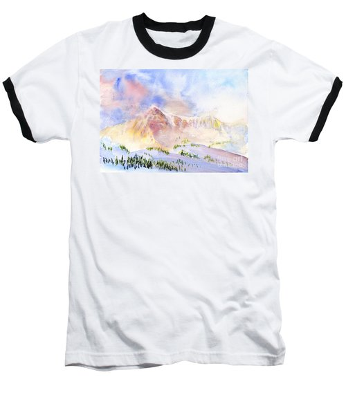 Sunrise On Mount Ogden Baseball T-Shirt