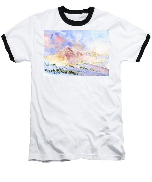 Sunrise On Mount Ogden Baseball T-Shirt