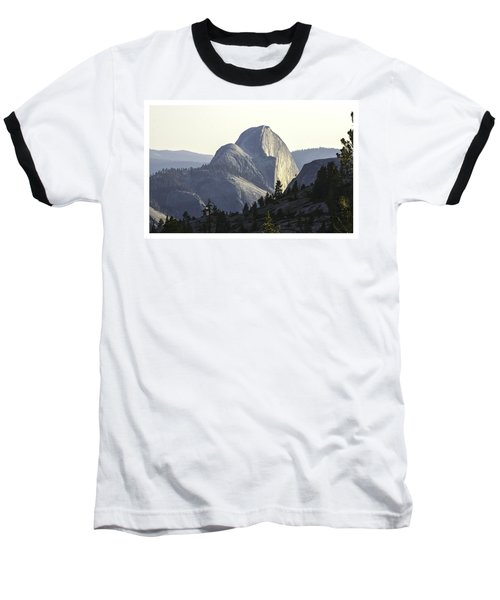 Sunset At Half Dome From Olmsted Pt Baseball T-Shirt