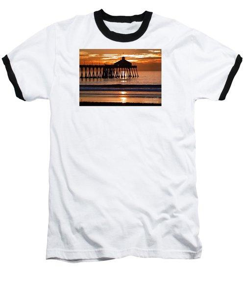 Sunset At Ib Pier Baseball T-Shirt by Barbie Corbett-Newmin