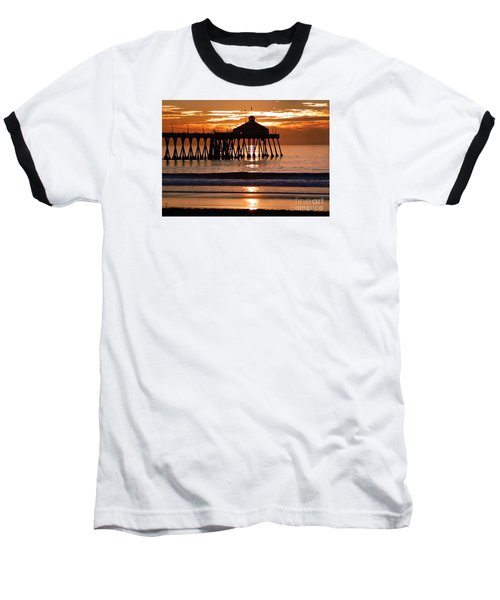 Sunset At Ib Pier Baseball T-Shirt