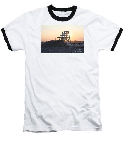 Sunset At Jones Beach Baseball T-Shirt by John Telfer