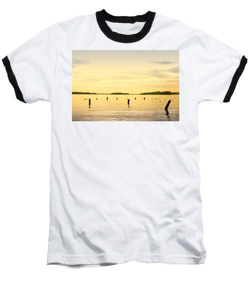 Baseball T-Shirt featuring the photograph Sunset At Lake Muskoka by Les Palenik