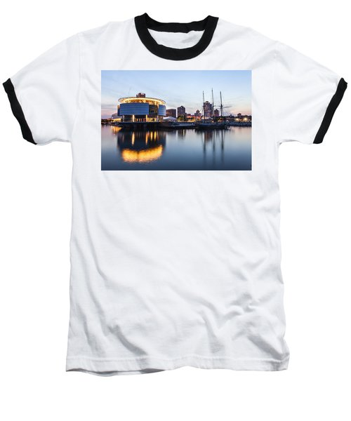 Sunset At The Dock Baseball T-Shirt