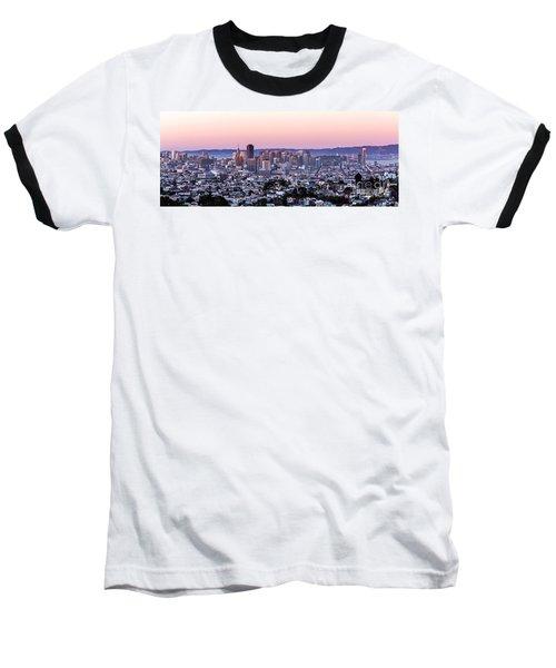 Sunset Cityscape Baseball T-Shirt