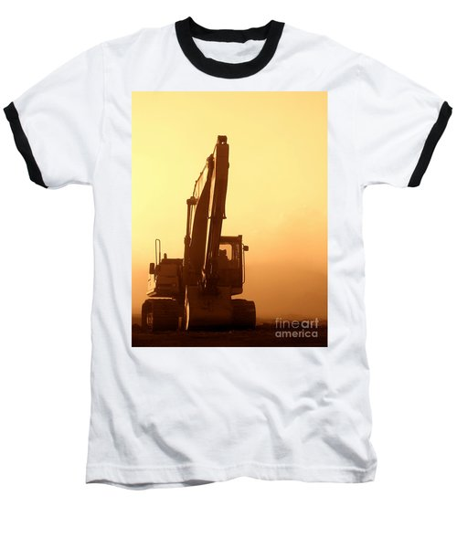 Sunset Excavator Baseball T-Shirt