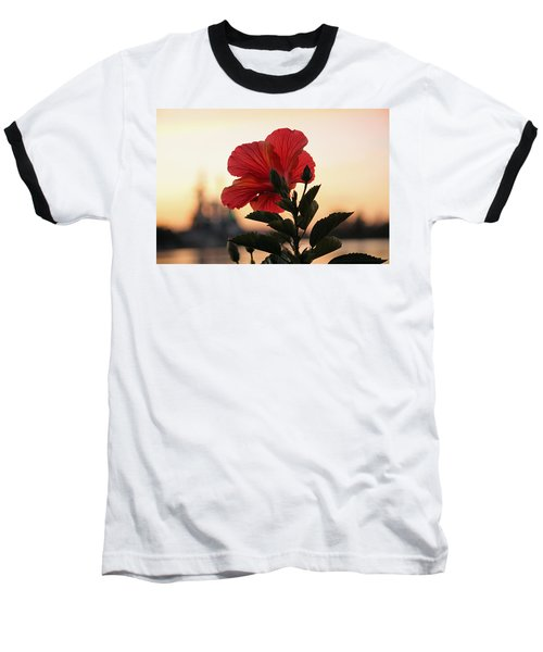 Baseball T-Shirt featuring the photograph Sunset Flower by Cynthia Guinn