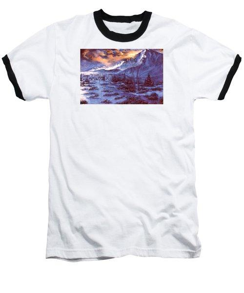Sunset Indian Village Baseball T-Shirt by Donna Tucker