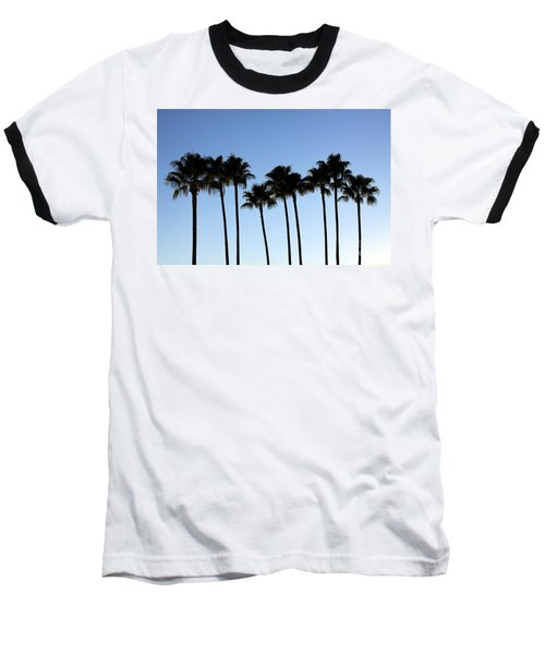 Baseball T-Shirt featuring the photograph Sunset Palms by Chris Thomas